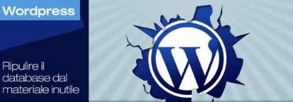 Come pulire il database del nostro blog