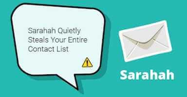 Sarahah ruba i contatti