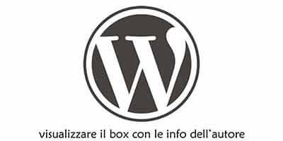 Come inserire box autore in WordPress