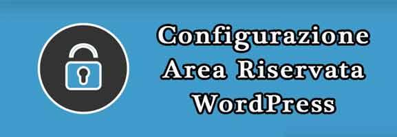Area Riservata con WordPress