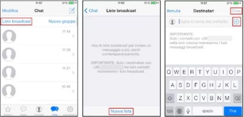 Lista Broadcast WhatsApp come crearla in semplici passaggi