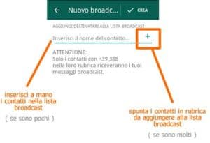 Lista Broadcast WhatsApp come crearla