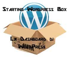 GUida sulla dashboard di WordPress