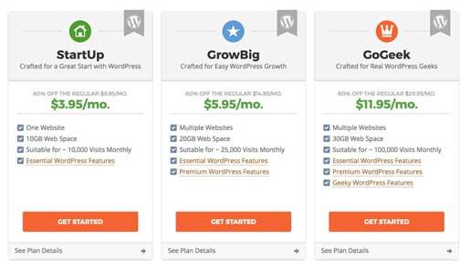 Hosting SiteGround Plans - Installazione WordPress