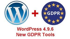 Aggiornamento GDPR WordPress 4.9.6
