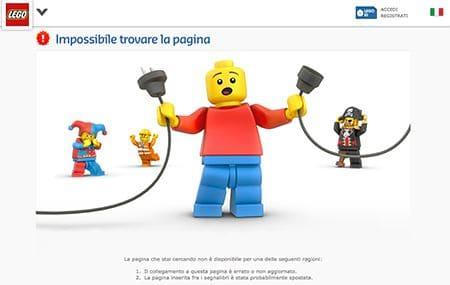 Le pagine errore 404- Lego