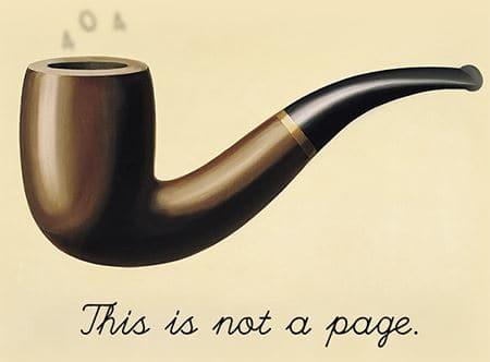Le pagine errore 404 Ceci c'est ne pas une pipe