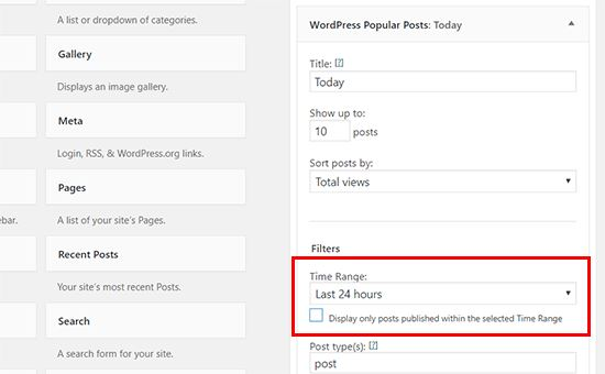 Mostrare i post più popolari nei widget di WordPress