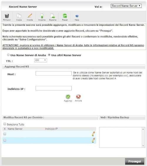 Installare CloudFlare su WordPress - Impostare Record DNS su Aruba