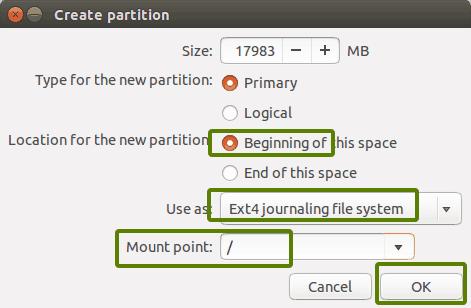 Installare Ubuntu e Win10. Creazione root