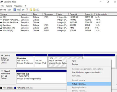 Ubuntu e Win10 in DualBoot. Ridurre la partizione