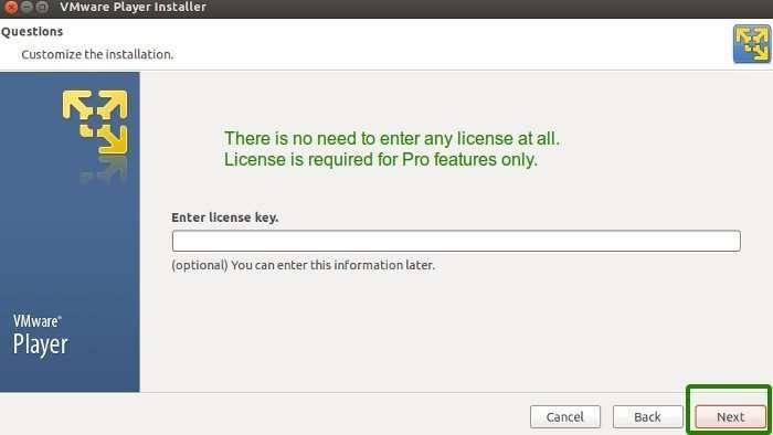 Installare vmware workstation su ubuntu - Installazione del programma