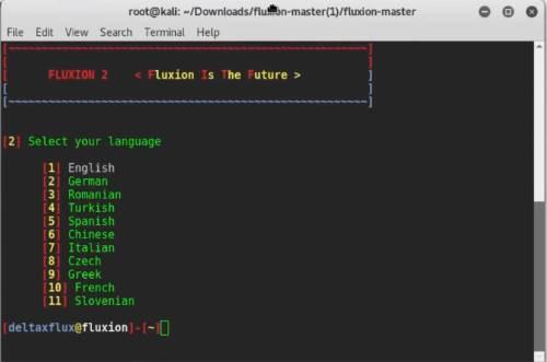 Homepage Fluxion - Schermata iniziale