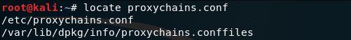 Installare proxychain in Kali Linux Locate proxychains.conf