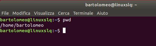 Il terminale di Linux - Comando PWD