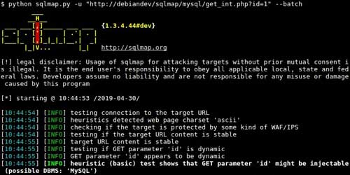 SQL Injection con SQLMap Vulnerabilità