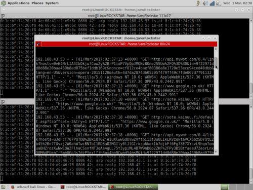 MITM Attack in Kali Linux. Utilizzare il comando Urlsnarf-i
