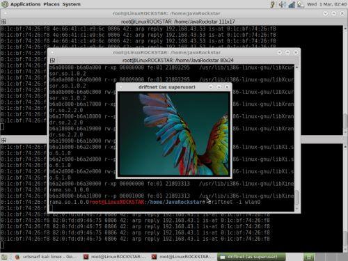 MITM Attack in Kali Linux. Utilizzare il comando driftnet-i