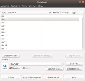 Crittografare HDD con VeraCrypt. Mount della partizione creata