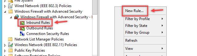 Configurare regola Firewall in Windows - Regole in Entrata