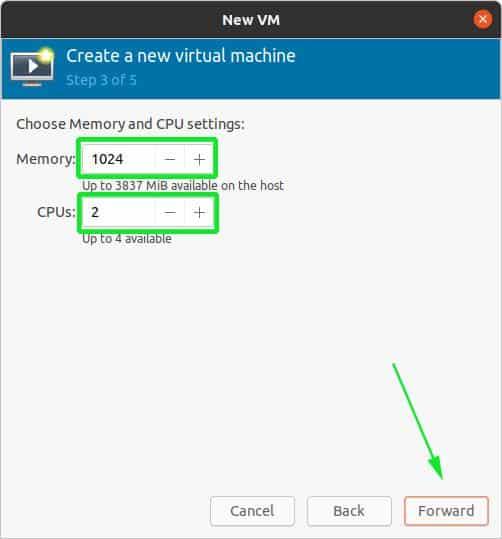 Installare Kvm su Ubuntu - Configurazione Memoria