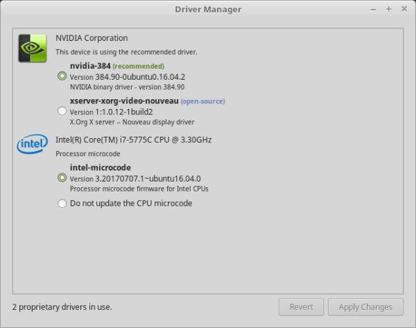 Installare Linux Mint - Configurazione Driver