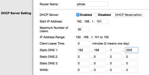Installare Pi-Hole su Raspberry Pi 4 - Configurazione Server DHCP