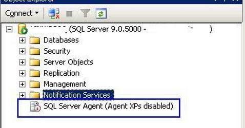 Ripristinare SQL Server Agent XPs