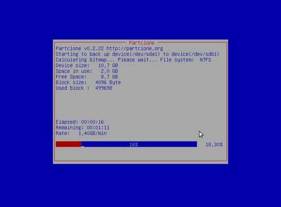 Clonare HDD con Clonezilla - Avvio Processo copia