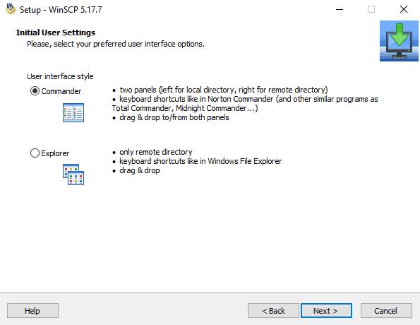 Restore database in Ubuntu - Installazione WinSCP