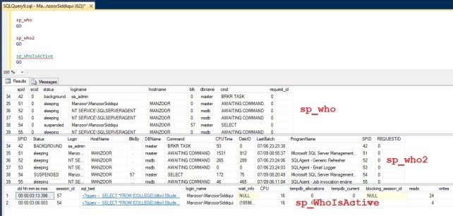 Utilizzare SP_WhoIsActive in SQL Server