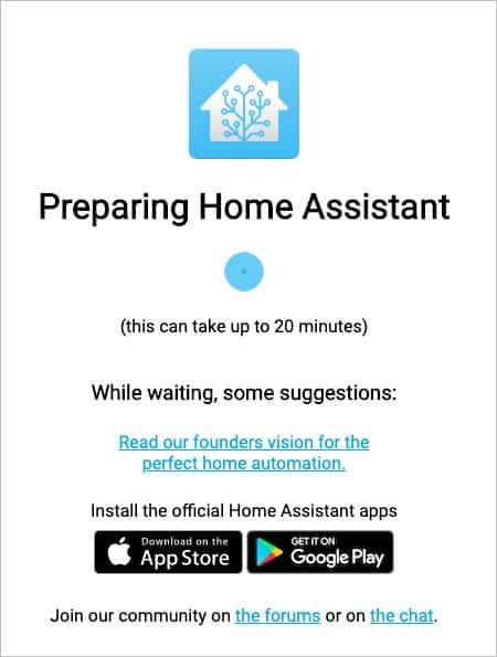 Installare Hass.io su Raspberry - Screen di attesa
