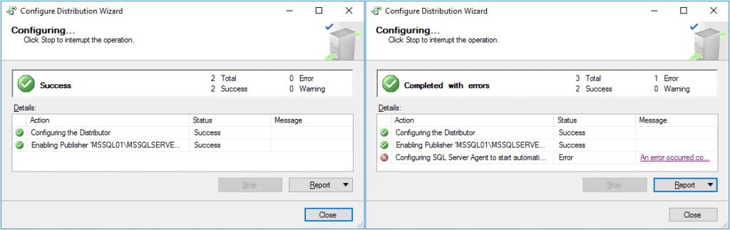 Replication in Sql Server - Configurazione Distribuzione 6 Passaggio