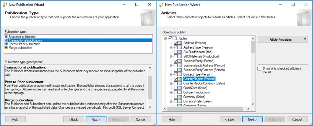 Replication in Sql Server - Configurazione Pubblicazione 2 Passaggio
