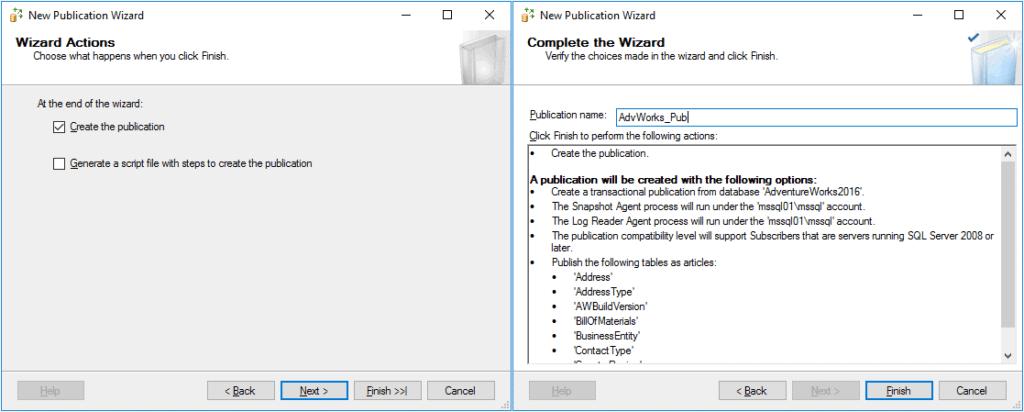 Replication in Sql Server - Configurazione Pubblicazione 5 Passaggio