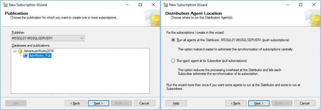 Replication in Sql Server - Configurazione Subscription 2 Passaggio
