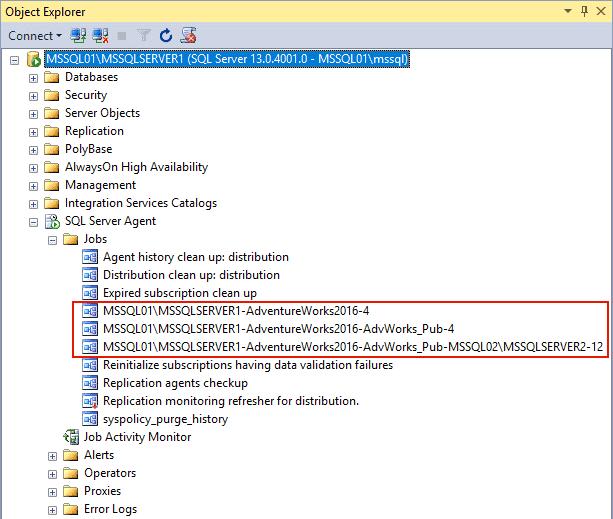 Replication in Sql Server - Processi Sql Server Agent