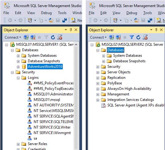Replication in Sql Server - Scenario Istanze