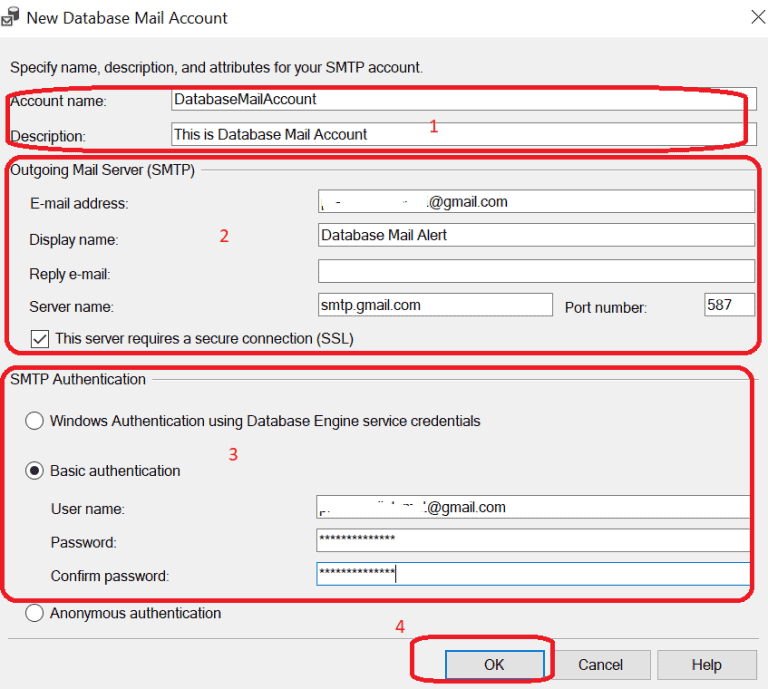 Configurare Server Mail in SQL Server - Database Account Mail