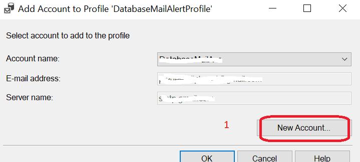 Configurare Server Mail in SQL Server - Aggiungi Account