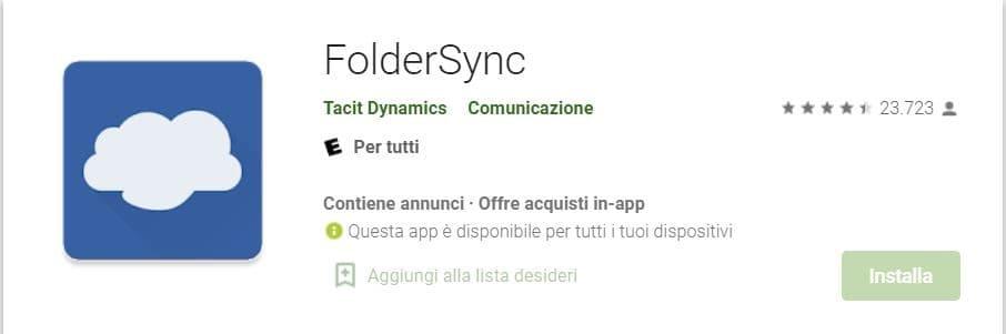 Backup smartphone su RaspberryPi - FolderSync