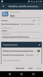 Backup smartphone su RaspberryPi - Cartella Sincronizzazione