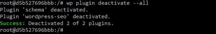 Installare WP-CLI - Disattivare tutti i plugin
