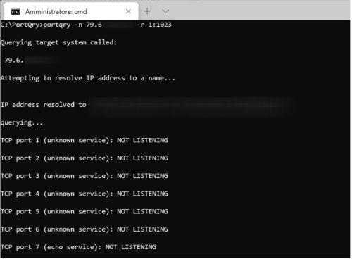 Come utilizzare PortQry - Test verifica connessione