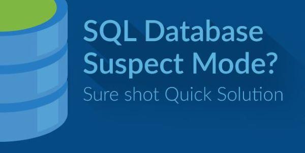 Database in modalità suspect