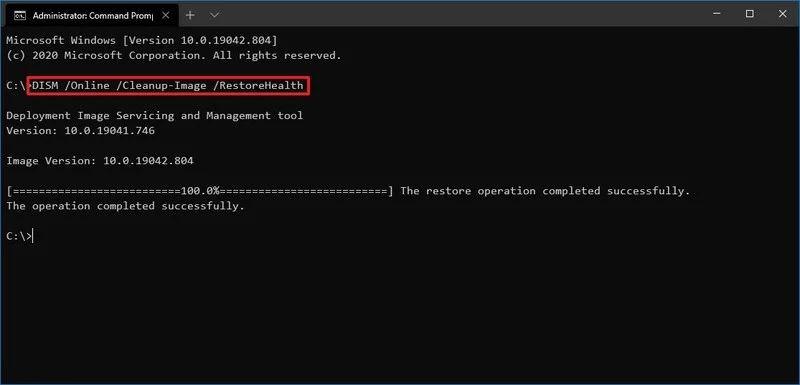 Ripristinare Windows-10 - Comando Dism RestoreHealth
