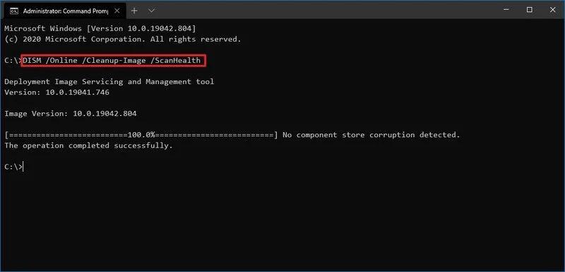 Ripristinare Windows-10 - Comando Dism ScanHealth